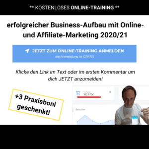 kostenloses Webinar Digiprofis - affiliate marketing