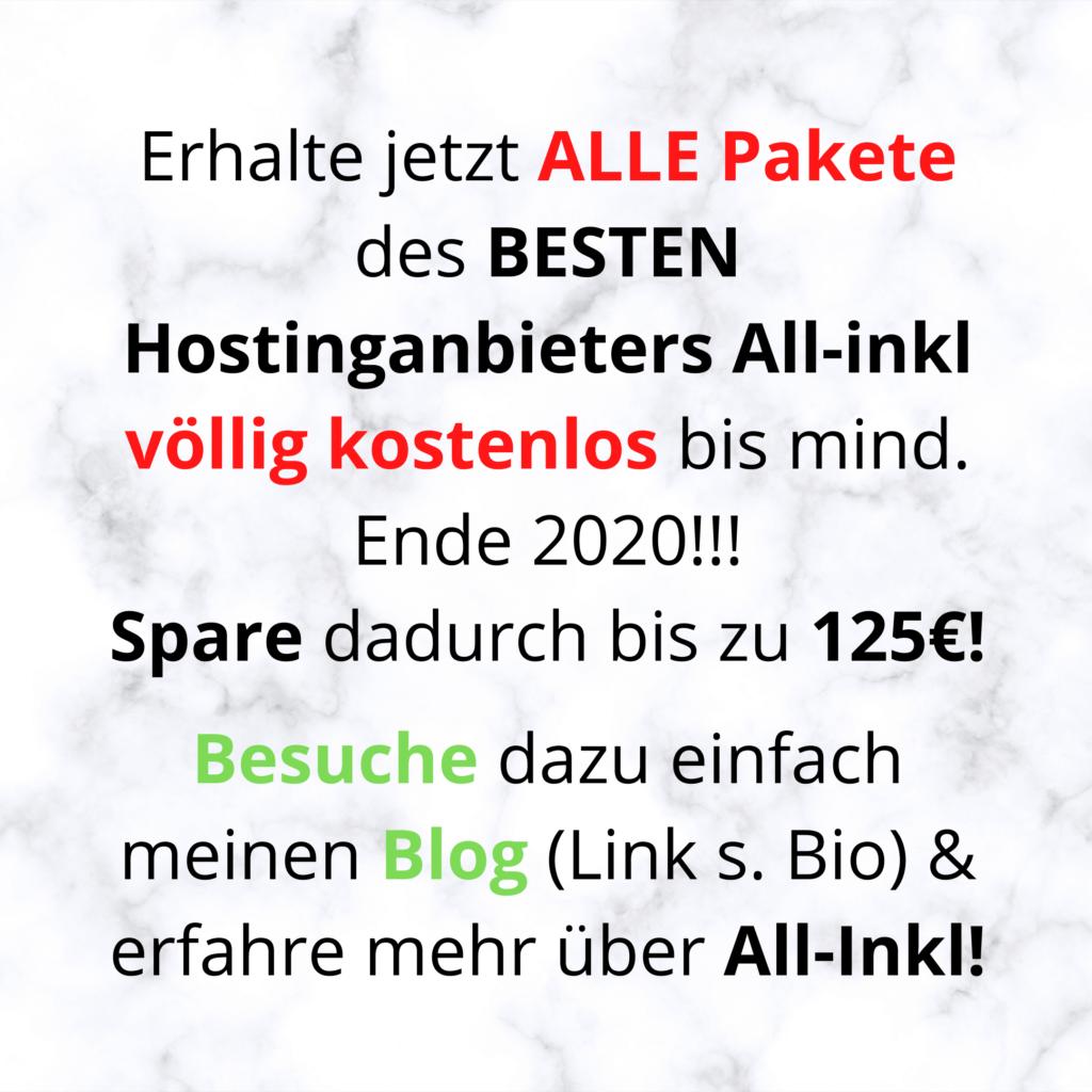 Erhalte jetzt ALLE Pakete des BESTEN Hostinganbieters All-inkl völlig kostenlos bis mind. Ende 2020!!!
